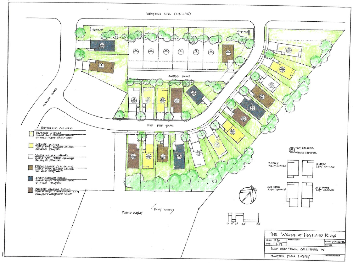 Color Rendering of The Woods site plan