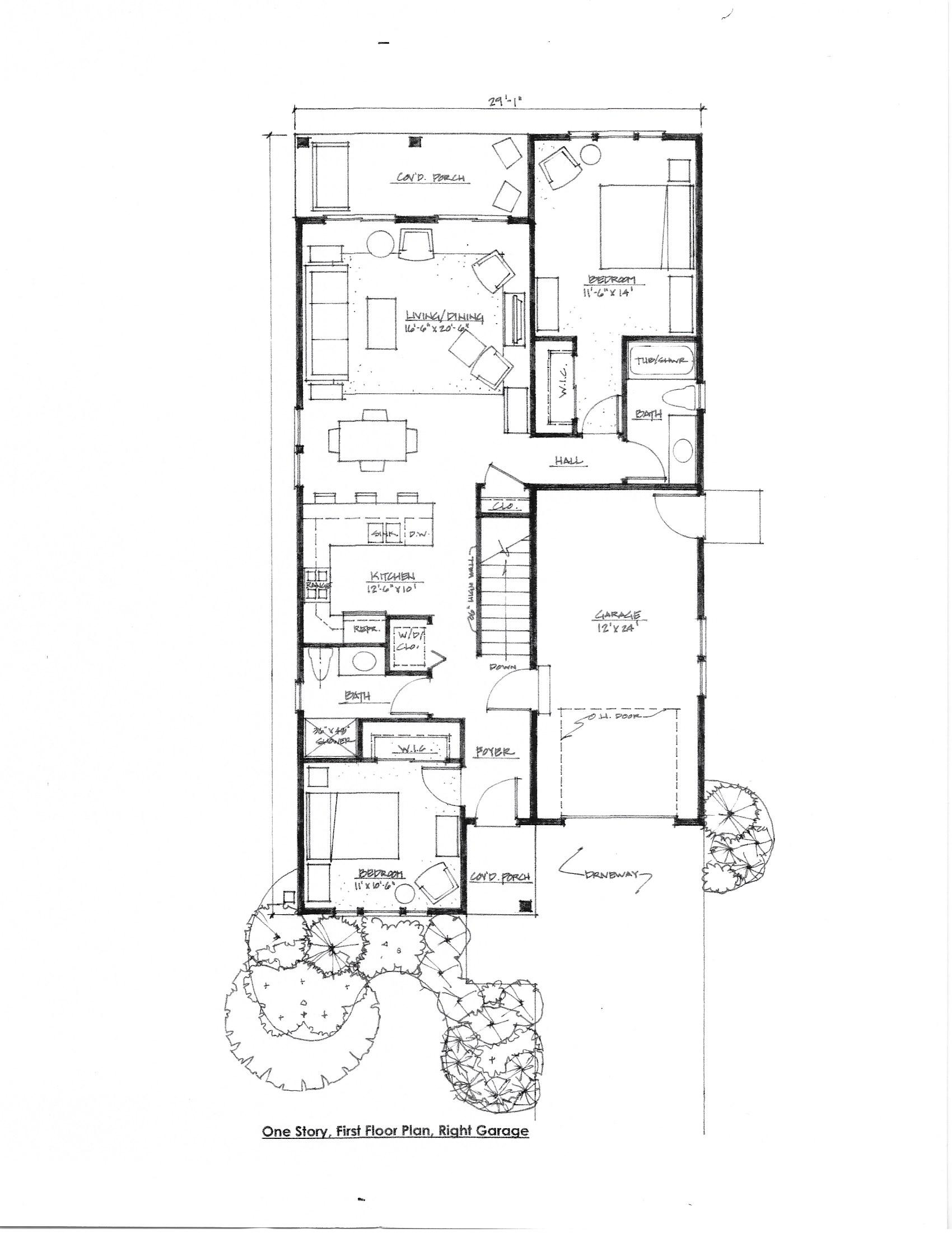 The Cornell Floorplan, Right Garage