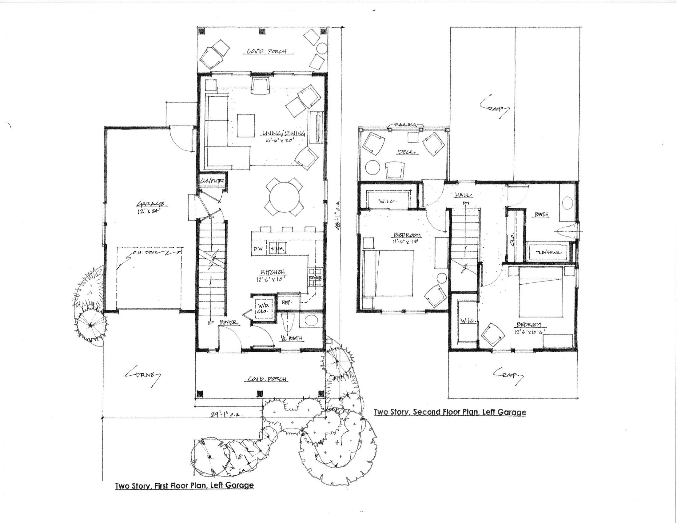 The Dover, Floor Plan, Left Garage